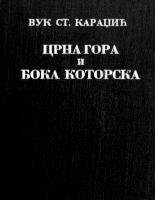 Вук Караџић – Црна Гора и Бока Которска