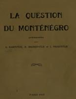 La Question Du Montenegro